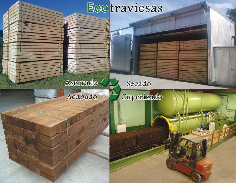 Ecotraviesas traviesas ecol gicas madera exterior vigas tratadas en autoclave traviesas - Maderas aguirre ...